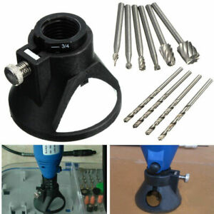 11Set-Dremel-Rotary-Multi-Tool-Cutting-Guide-Attachment-Kit-HSS-Router-Drill-Bit