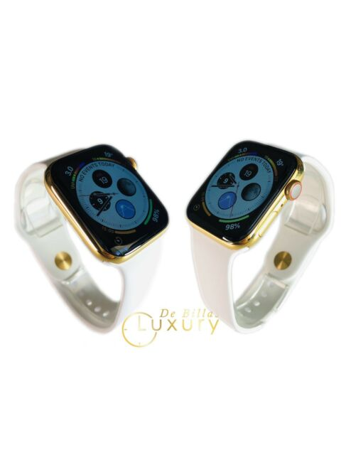 24k Gold Plated 44mm Apple Watch Series 4 With White Sport Band For Sale Online Ebay