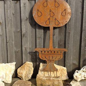 jardin fer rouille noble figure vase empire t d 39 automne d co fleurs paille ebay. Black Bedroom Furniture Sets. Home Design Ideas