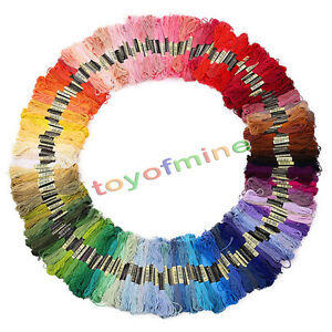 50pcs-Mixed-Color-Cotton-Embroidery-Thread-Cross-Stitch-Embroider-Skein-Floss