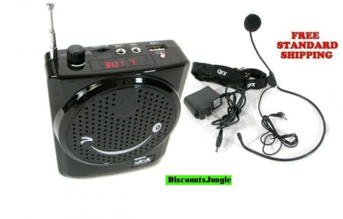 NEW QFX BT90 Portable Bluetooth PA System Headset//Microphone USB//Micro-SD,FM