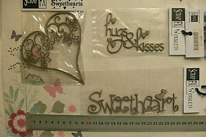 CHIPBOARD-DieCut-HEART-SWEETHEART-Hugs-amp-Kisses-3-Style-Choice-Scrap-FX-L