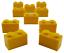3004 LEGO 10 pezzi pietra 1x2 in giallo pietre gialle Basic pietre City Basics NUOVO