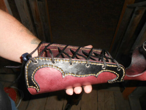 BRACE RH OR LH HANDCRAFTED TRADITIONAL LEATHER ARCHERY ARM GUARD