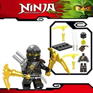 Ninjago-Cole-Masters-of-Spinjitzu-Samurai-Kai-Warrior-Custom-Lego-Mini-Figur