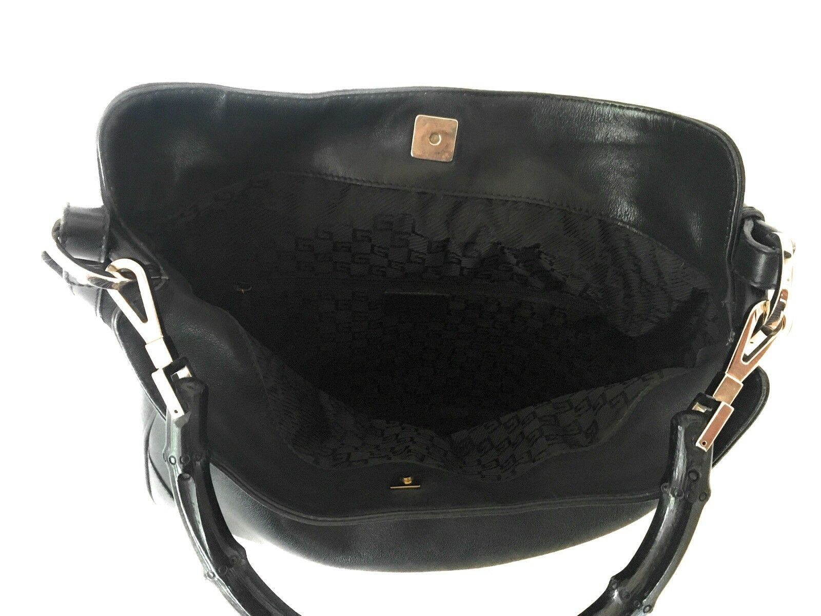 AUTHENTIC GUCCI LEATHER & BAMBOO BLACK PRINCESS D… - image 5