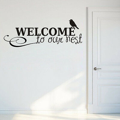 Wall Stickers Wall Decals Welcome to Our Nest