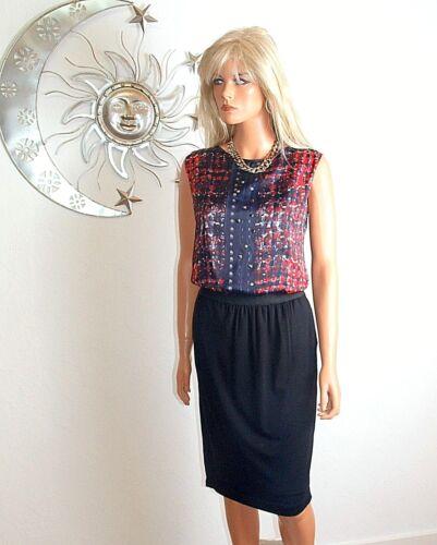 36 Haut Chic Nouveau Shift noir 041 chemisier Dress taille Cs Biba SRzqgw