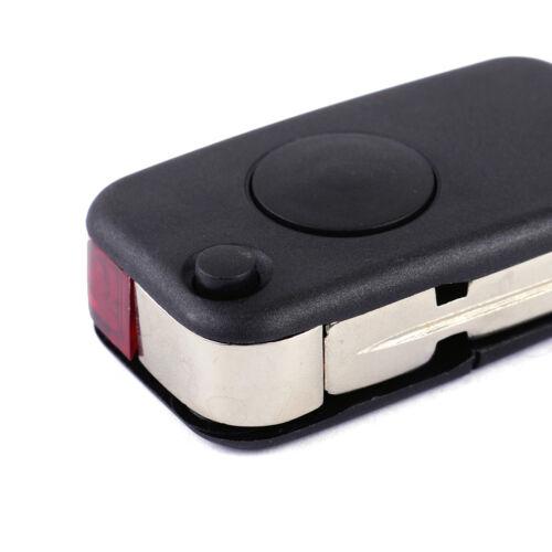 Car Uncut Key Remote Fob Shell Case W// Blade For Mercedes Benz W168 W124 W202