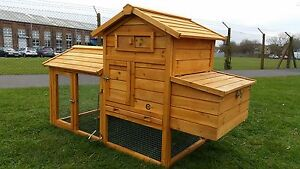 CHICKEN COOP RUN HEN HOUSE POULTRY ARK HOME NEST BOX COUP COOPS BANTAMS