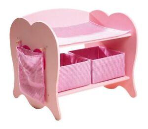 Table à langer / berceau / mobile Pour Poupées En Bois Jeu X Filles