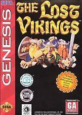 Lost Vikings (Sega Genesis, 1992) with case. No manual