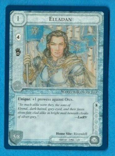 Middle-Earth CCG MECCG Elladan The Wizards Unlimited LOTR Fixed Card NEAR MINT