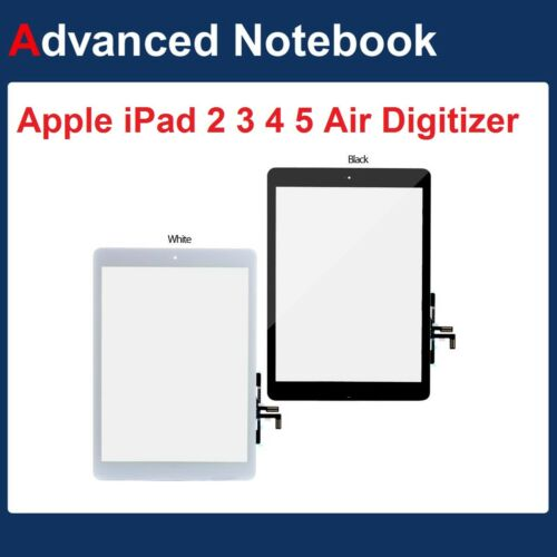 Replacement Digitizer Glass Screen For Apple iPad 2 3 4 iPad Air & Home Button