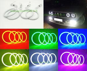 Cotton-RGB-4-Halo-Rings-For-BMW-E30-E32-E34-LED-SMD-Demon-Devil-Angel-Eyes-DRL