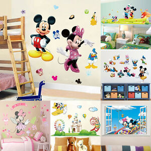 room decor gifts diy image is loading removablemickeyminniemousedecalwallstickerkids removable mickey minnie mouse decal wall sticker kids room decor art