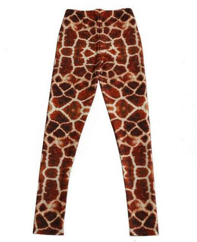 Women legging Brown giraffe printed S-4XL slim elastic Leggings 3391