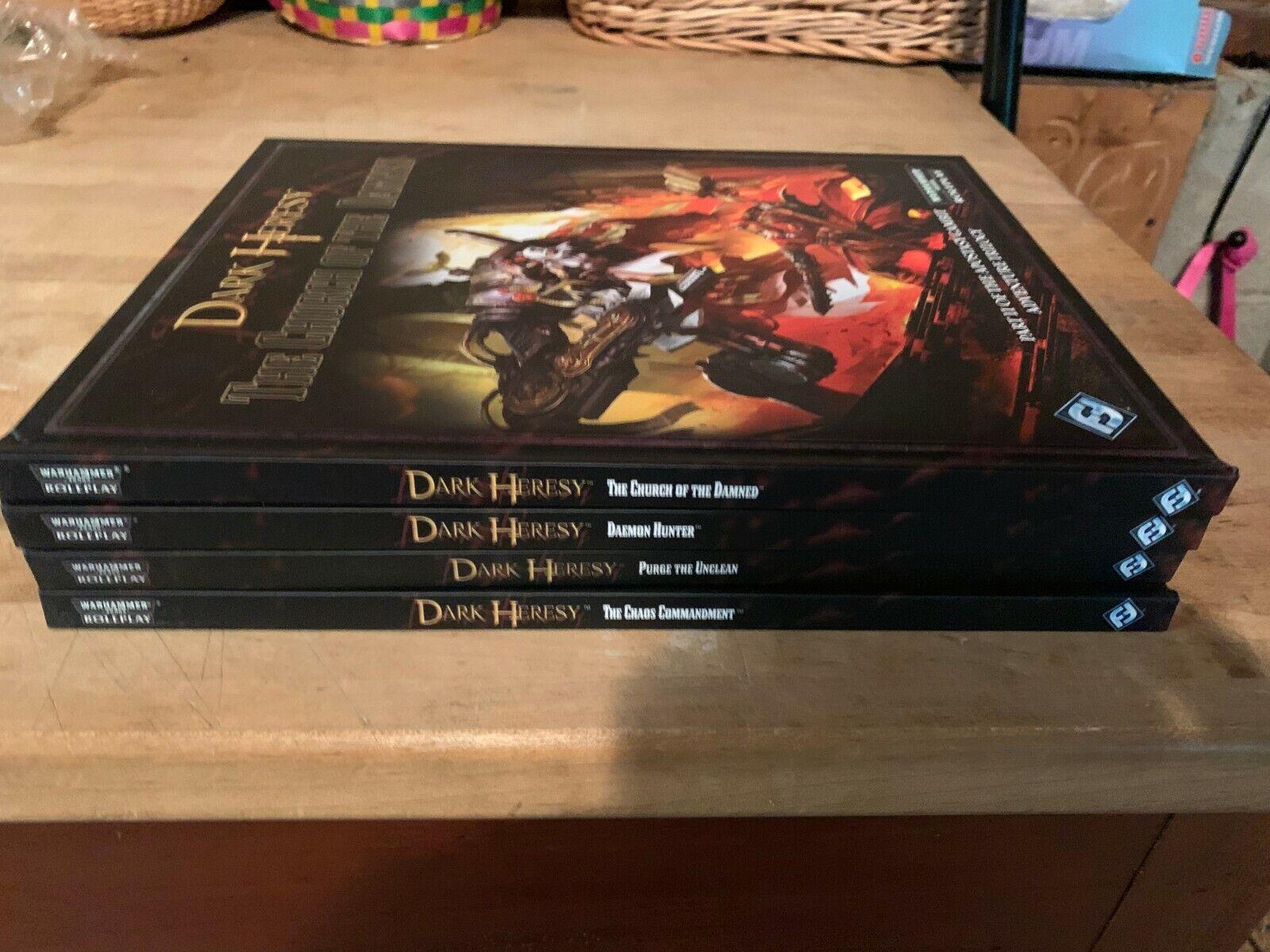 Ffg Dark Heresy Rpg Lot 4 Books Brand New Hardcovers Warhammer 40k Roleplaying