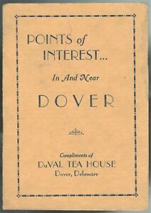 Brochure DuVal Tea House Guests Points of Interest Dover DE Art Deco c1930s