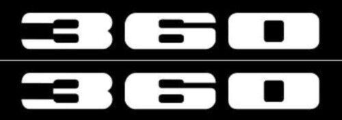 """Mopar 1972 Plymouth Road Runner /""""360/"""" White Fender Decal Set of 2"""