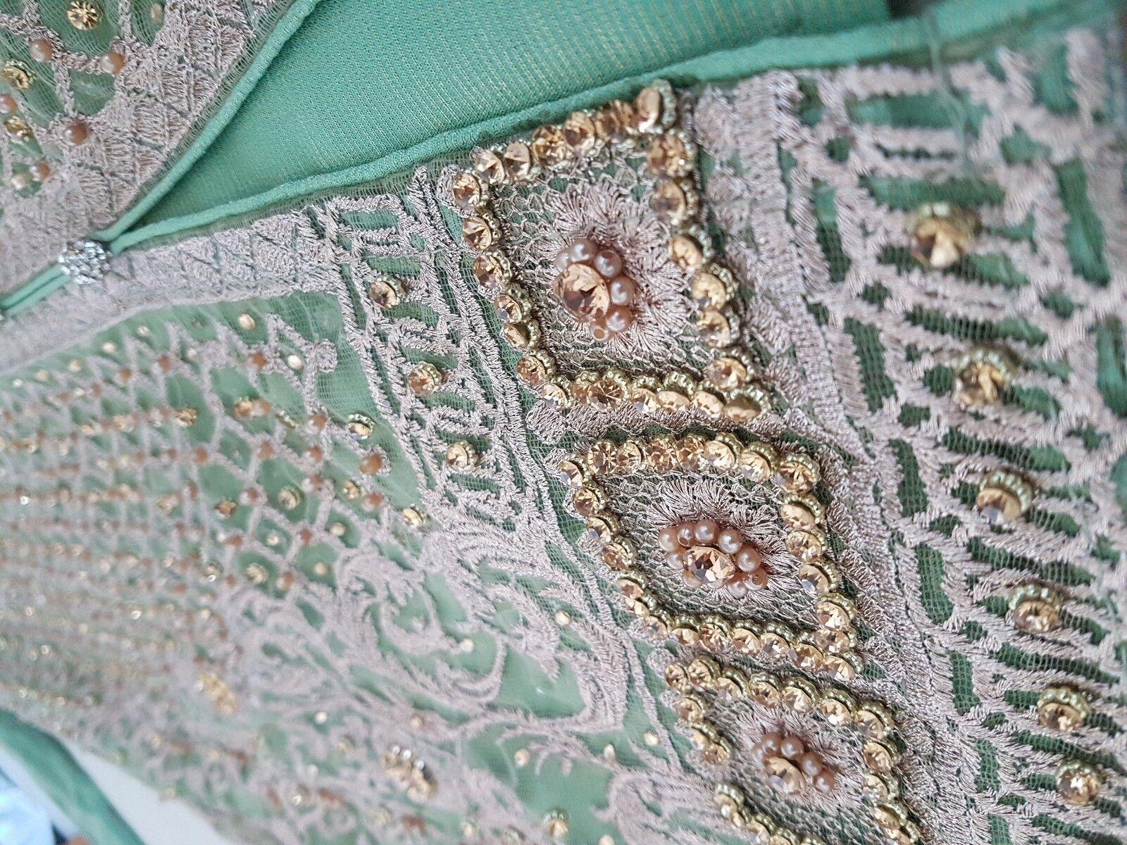 3 pc SUPERBE Asiatique Indien Mariage Fête Eid Occasion Femme Pantalon Costume