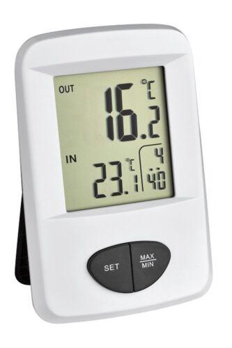 TFA Dostmann Digitales Thermometer  30.3061.02  Funk Innen /& Außen Max Min R5.12