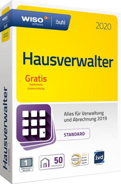 WISO Hausverwalter 2020 Standard 50 Wohneinheiten - CD und Handbuch