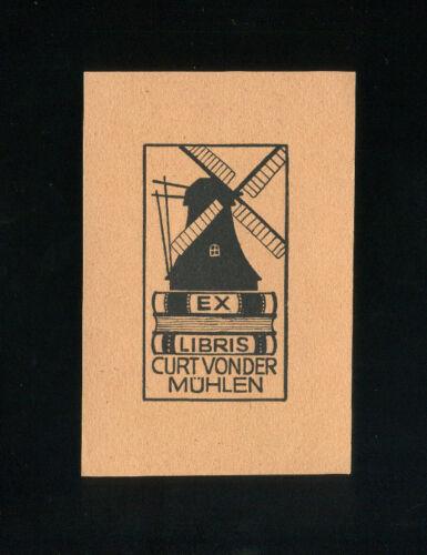 W EXLIBRIS Senker Windmühle auf Büchern // Windmill on Top of books 433a