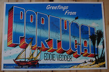 EDDIE VEDDER - Portugal 2012 Poster JEFF SOTO S/N *RAR* Pearl Jam