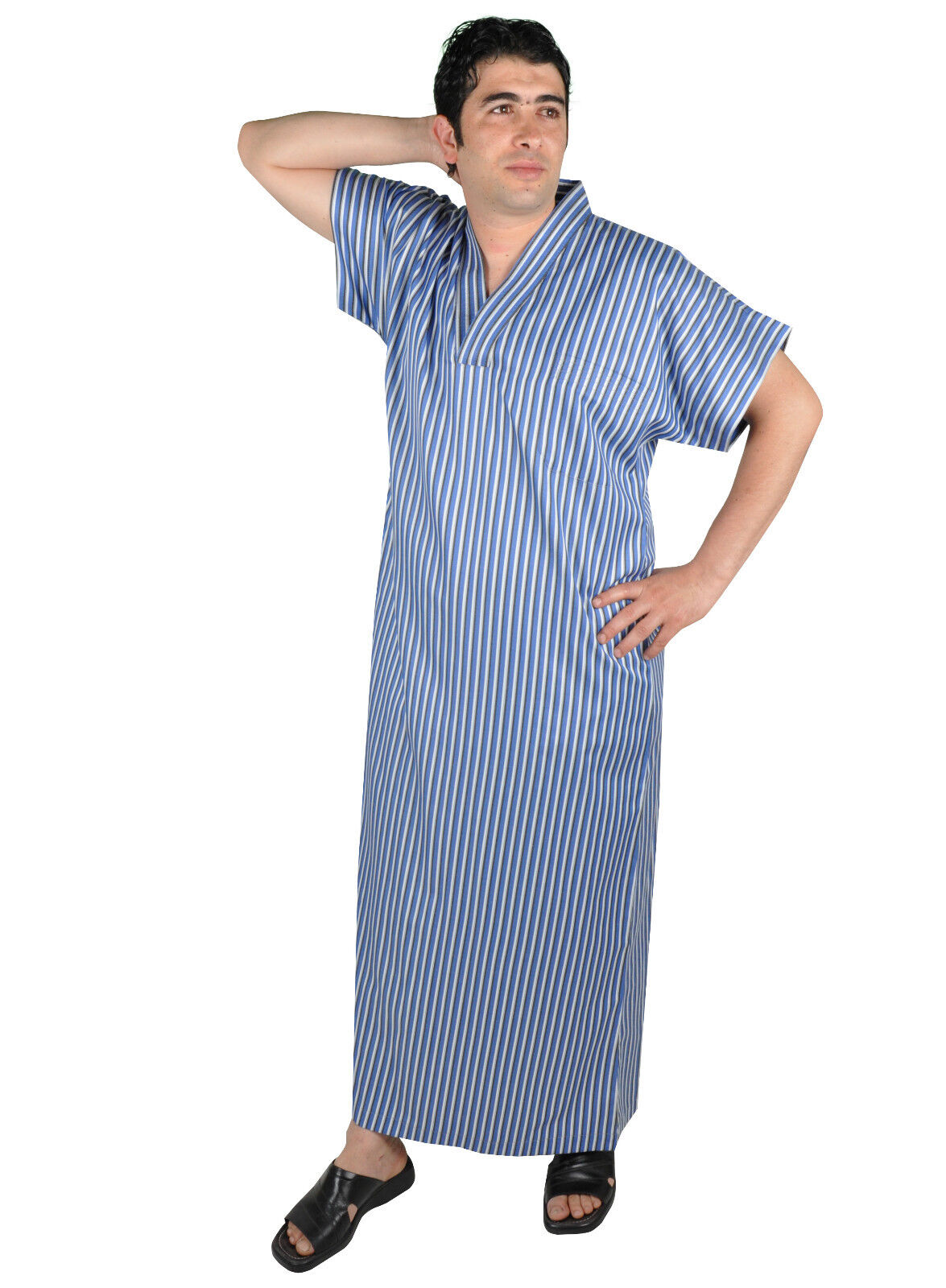 Men's Kaftan Tunic Housedress Summer Dress Night Gown Sauna- Wellness Gown 670