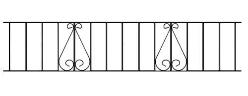 Classic Metal Railing 1830mm GAP x 355mm H Galvanised Iron Fence Fencing CLZP06