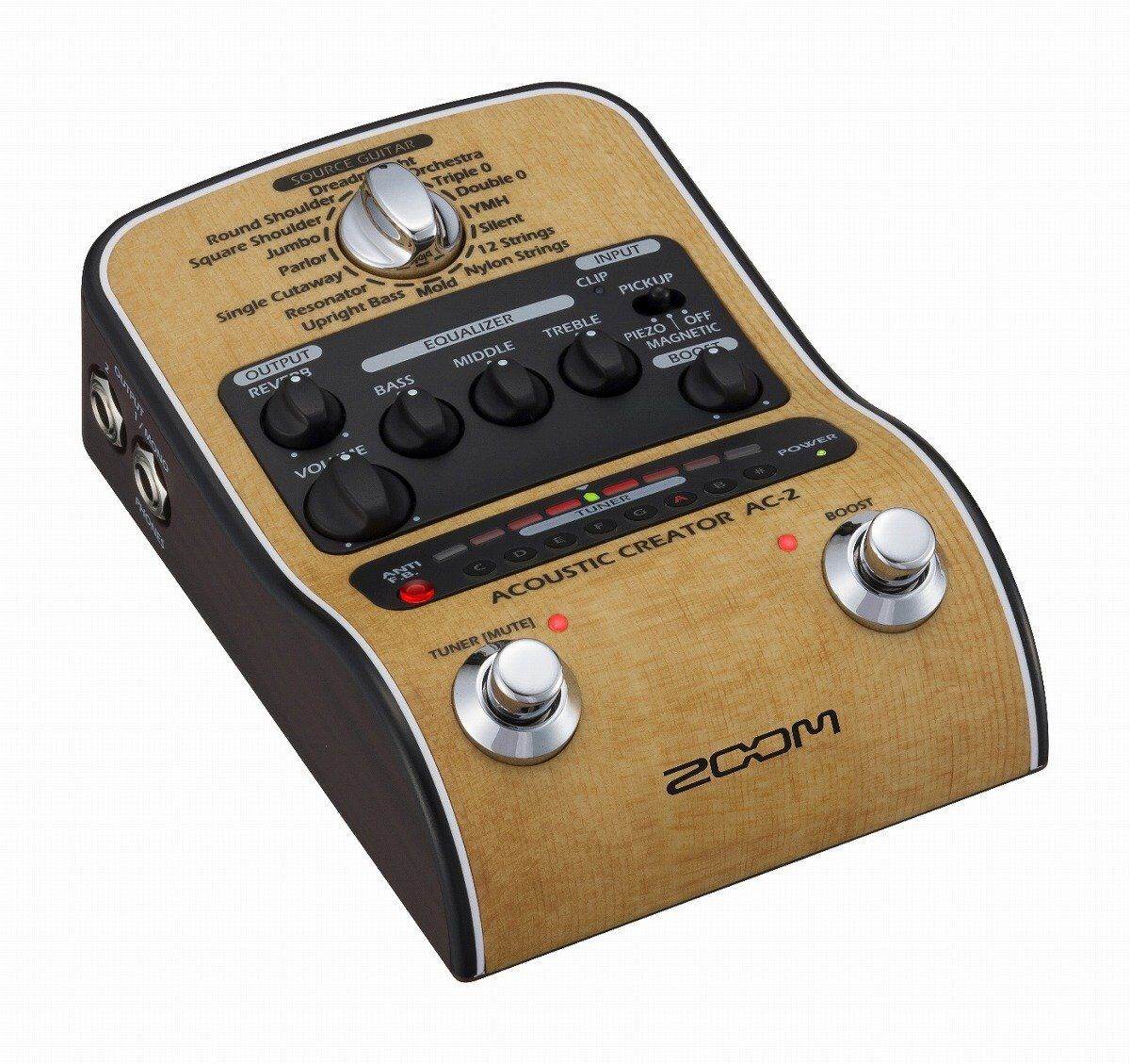 ZOOM AC-2 Acoustic Creator Preamp for Acoustic Guitar Stomp Pedal