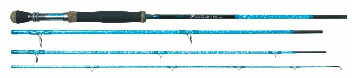 2444 Wright & McGill  Blair Wiggins 9' S-Curve 4-Piece 9 Weight Fly Rod 4XP994  unique shape