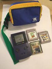 Nintendo Gameboy Color GBC Uva Morado Consola +4 Juegos Potter Cool Spot W. carrera