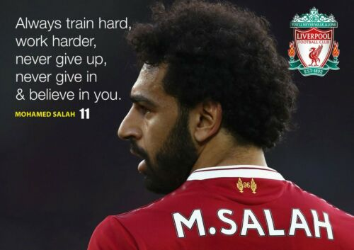 Motivational Salah 8 Football Player Poster Sport Quote Photo Liverpool Picture