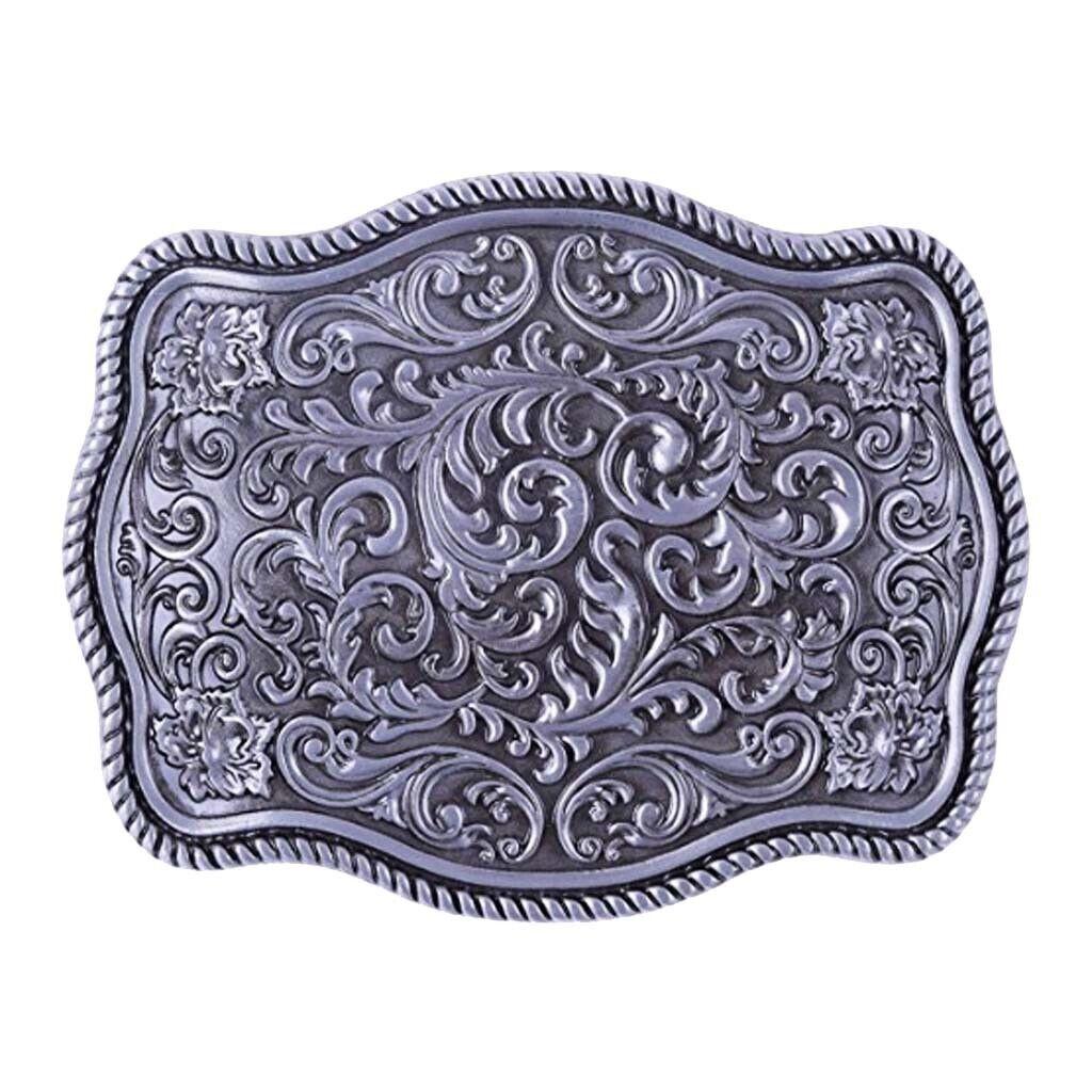 Mit Blumen Gravierte Gürtelschnalle Western Indian Cowboy Cowgirl Jeans
