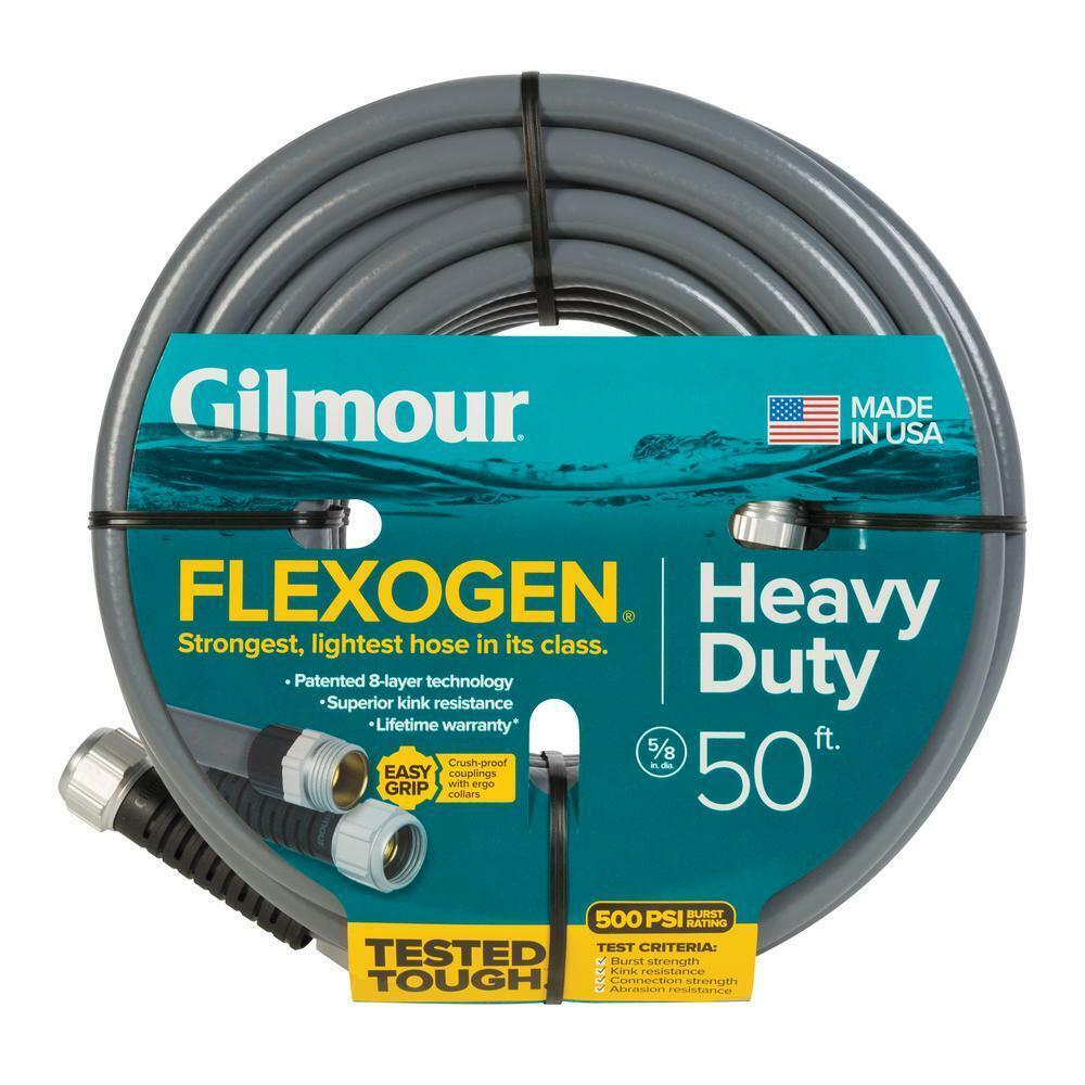 5/8 In. Dia X 50 Ft. Gray Flexogen Heavy Duty Garden Water Hose Up to 500PSI