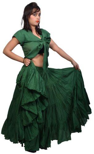 Wevez LATINO-AMERICANI Tribale Danza 25 Iarda Cotone Gonna Lunga 40 pollici