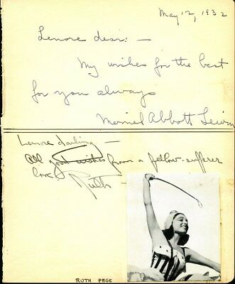 Chicago Stage & Opera #3 Let Our Commodities Go To The World 1932 Confident Mystery Autograph