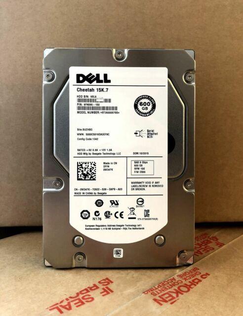 """Dell Cheetah 15K .7 W347K 0W347K ST3600057SS 600GB 6G Disco Duro HDD SAS de 3.5"""""""