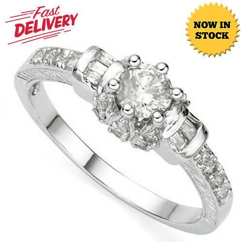 2 5 CARAT GENUINE DIAMOND (VS) SOLITAIRE 14KT SOLID gold ENGAGEMENT RING