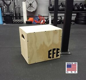 Assembled 12 X 14 X 16  Plyo Box, Step Box, 3 IN 1 Plyometric Boxes