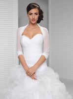 Bridal Ivory/white Tulle Bolero Shrug Wedding Jacket Shawl S/m/l/xl/xxl