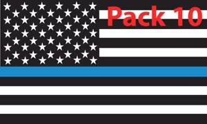 Details About 10x Thin Blue Line American Flag Decal Sticker Blue Lives Matter Police Officer