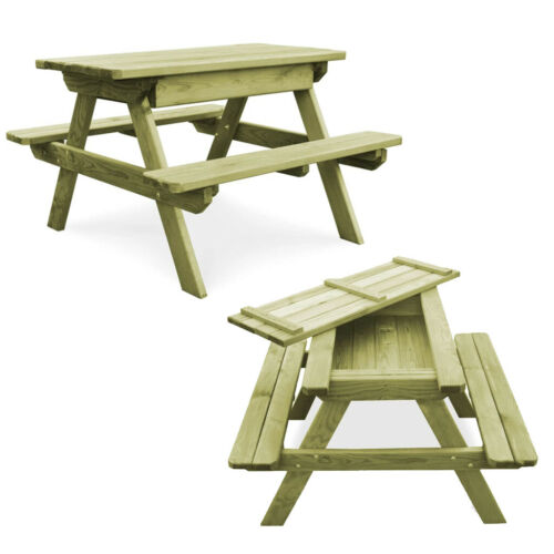 Garden Patio Wooden Picnic Table Furniture Heavy Duty Outdoor Pub Bench Seat New