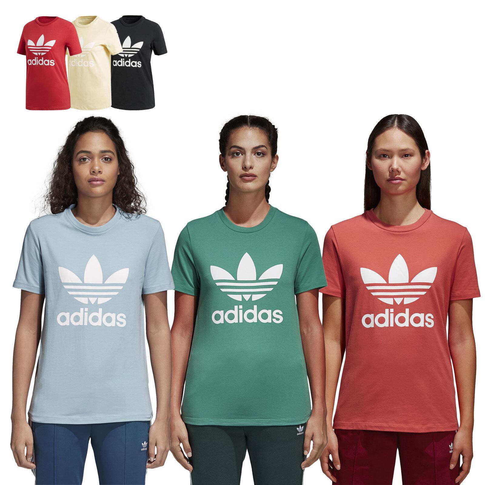 Adidas Originals Trefoil T Frauen Shirt Top Kurzarm T-Shirt