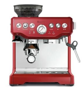 BREVILLE BES870CRN The Barista Express Coffee Machine - Cranberry