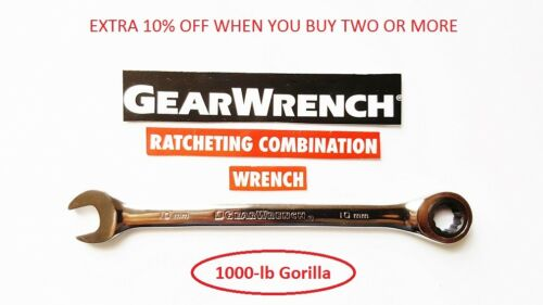 Gearwrench Flat Ratcheting Wrench SAE or Metric Combination Ratchet New