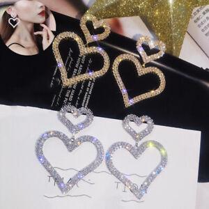 Earring-Jewelry-Women-Fashion-Heart-Rhinestone-Dangle-Earrings-Drop-Ear-Stud
