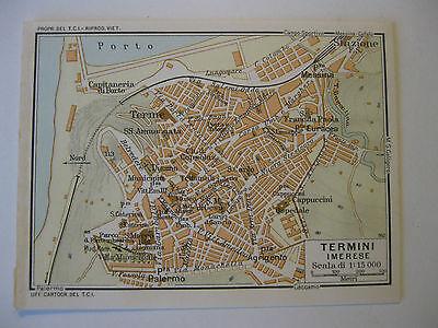 Cartina Sicilia Termini Imerese.Stampa Antica Mappa Pianta Carta Topografica Sicilia Termini Imerese 1940 C Ebay